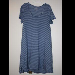 Blue/White striped T-shirt Dress